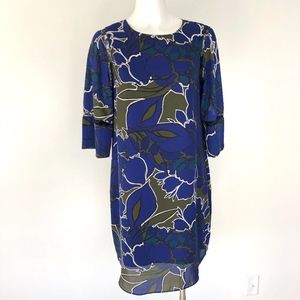 Apt 9 | Blue Graphic Lined 3/4 Sleeve Dress